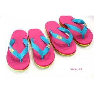 Tong Enfants Hippobloo PINK LIME TURQUOISE -  34-35